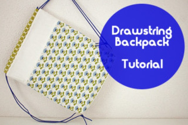 DIY tutorial Drawstring Backpack Happy in Red