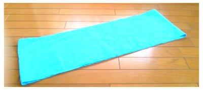 ブルーのサラシ素材178センチ