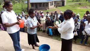 Parents were also taught about sanitation and hygiene, and participated in a hand-washing activity.