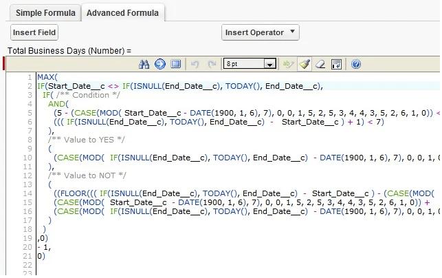 Chrome extension for Salesforce.com Enhanced Formula Editor