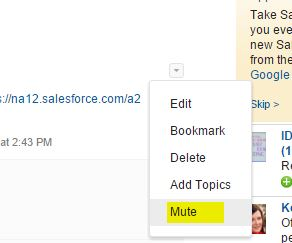 Chatter Mute - Salesforce Winter 16