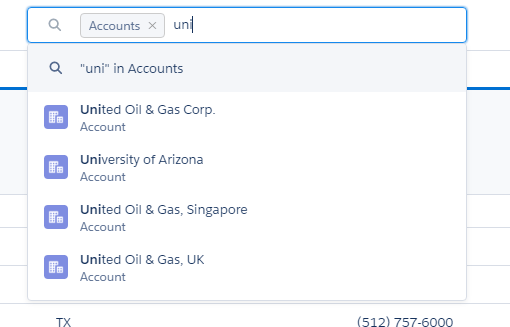 Step 2- Global Search in selected object