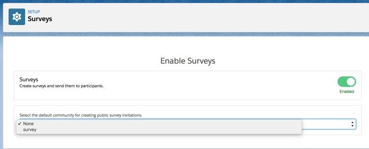 Salesforce - Enable Survey