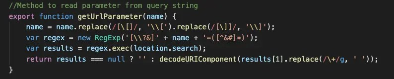 Share JavaScript Code in Lightning Web Component to Read URL Parameters