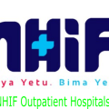 NHIF outpatient hospitals and registration codes per county