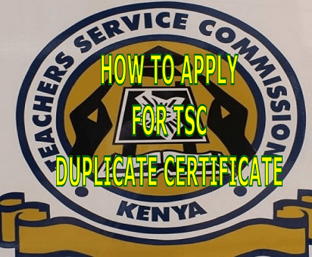 How to apply for TSC duplicate certificate