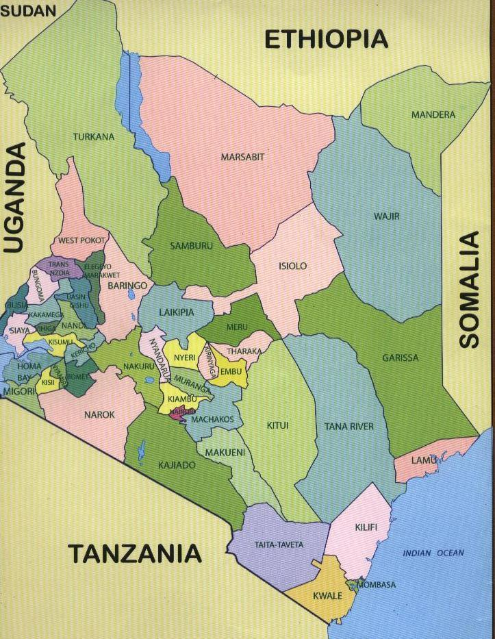 Maps of Kenyan counties