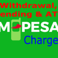 Safaricom Mpesa withdrawal and sending rates
