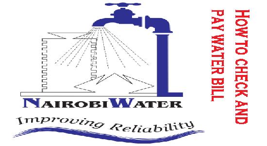 Nairobi Water Company pay bill and check balance