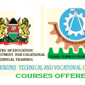 Kamukunji Technical and Vocational College Courses Offered