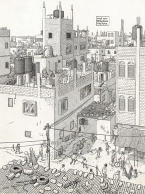 Joe Sacco «Footnotes in Gaza», Tusche auf Papier, 2009