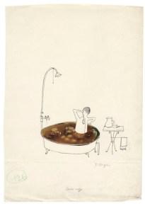 Tomi Ungerer, Sans titre, Zeichnung für Tomi Ungerers «Weltschmerz», Ende 1950er-Jahre Tusche und Fotocollage auf Papier, 32,2 x 22,8 cm Collection Musée Tomi Ungerer - Centre international de l'Illustration, Strasbourg © Tomi Ungerer
