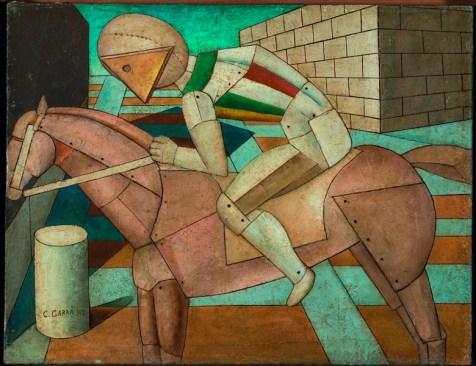 Carlo Carrà, Der Reiter des Westens, 1917, Öl auf Leinwand, 52 x 67 cm, Privatsammlung, © VG Bild-Kunst, Bonn 2016