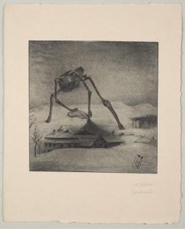 Alfred Kubin, Epidemie (Weber Mappe, Blatt 7 / Sheet 7), 1903, Lichtdruck auf Büttenpapier, 43,7 x 35,1 cm, Lentos Kunstmuseum Linz, © Eberhard Spangenberg, München / VG Bild-Kunst, Bonn 2017