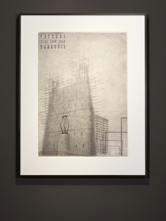 ©The Quay Brothers Paysage plus loin que Varsovie, 1970's pencil on paper 54,5 x 76 cm