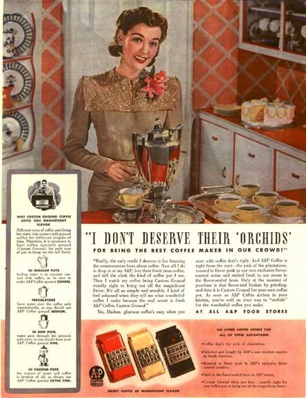 LIFE Magazine ad for BOKAR Coffee, Oct 6, 1941