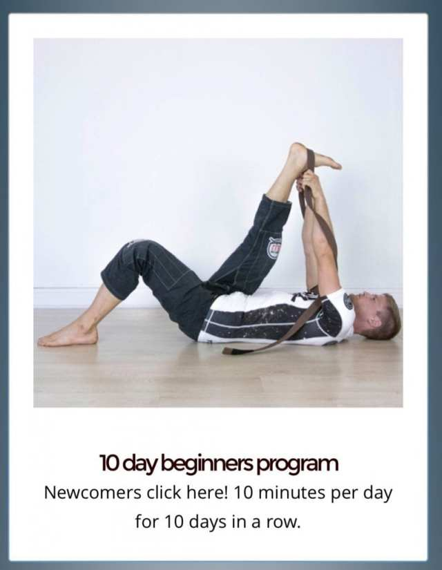 The 10-day beginners program helps establish a daily regimen a mere 10 minutes a day.--photo courtesy of Sebastian Brosche