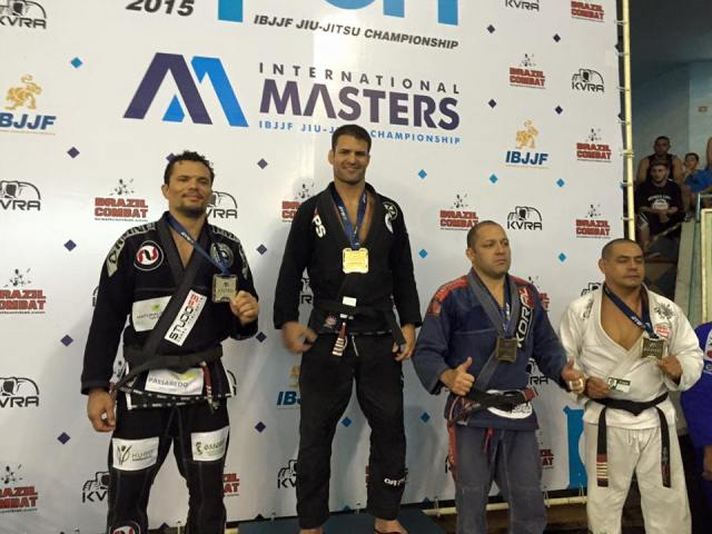 Professor Guillobel on top of the podium at the Masters Worlds.--photo courtesy of Paulo Guillobel