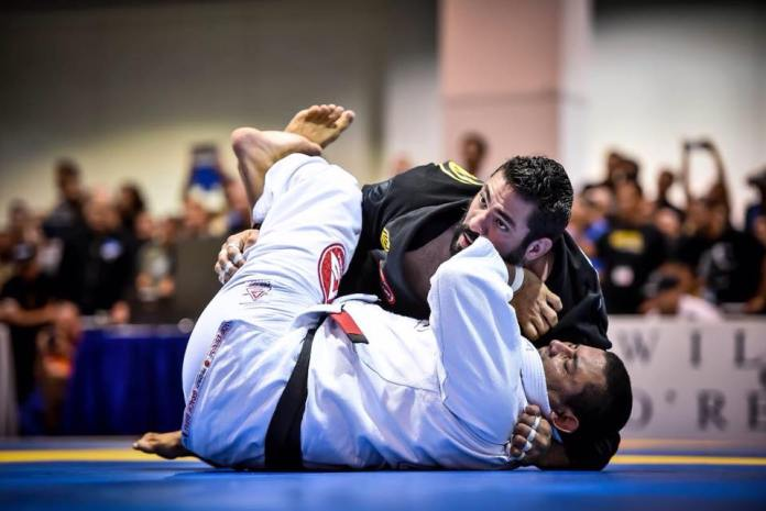 Coach Foster works from side control. --photo courtesy of James Foster