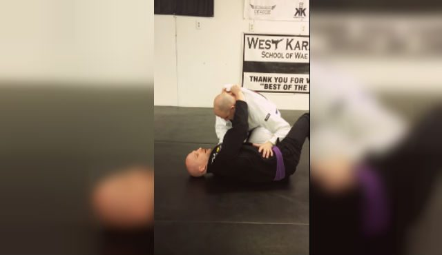 You Can Hit This Baseball Bat Choke From The Bottom Half-Guard Position