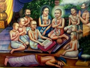 Sri Gadadhara reciting Bhagavatam, copyright Jiva Institute