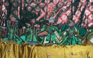 Sri Gadadhara-Gaura and Sri Radha-Govindadeva of  Sri Haridas Niwas