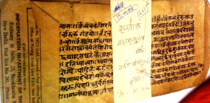 palmleaf at Vrindavan Research Institute
