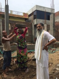 Babaji at construction site