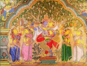 Krishna and Gopis - Vrindavan Research Institute