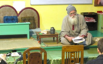 Sanskrit class at Jiva with Jagadananda Prabhu
