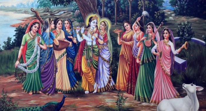 Krishna and gopis, copyright: Jiva