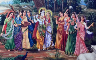 Krishna and gopis, copyright: Jiva