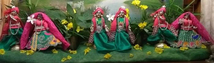 Jiva Deities Radha Govinda, Radha Shyamsundar, Gaura Gadadhara