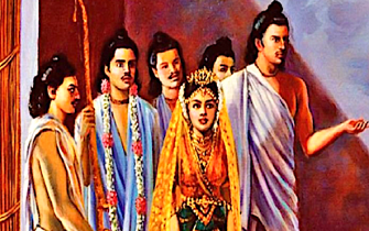 Pandavas and Draupadi