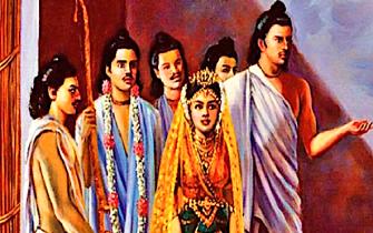 Pandavas and Draupadi