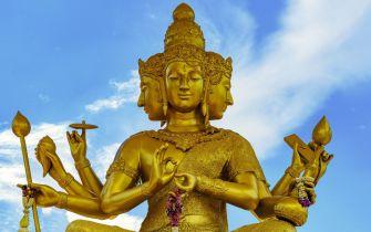 Brass Statue of Brahma