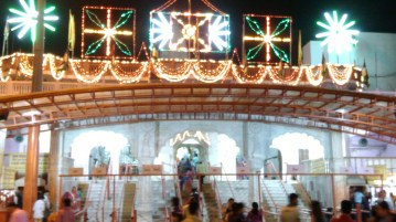 Deepavali decoration in Ganesh Temple = Jaipur = Rajasthan - India