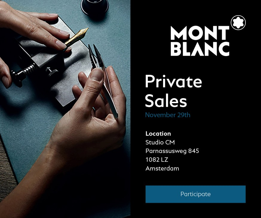 Private sale nieuwsbrief design