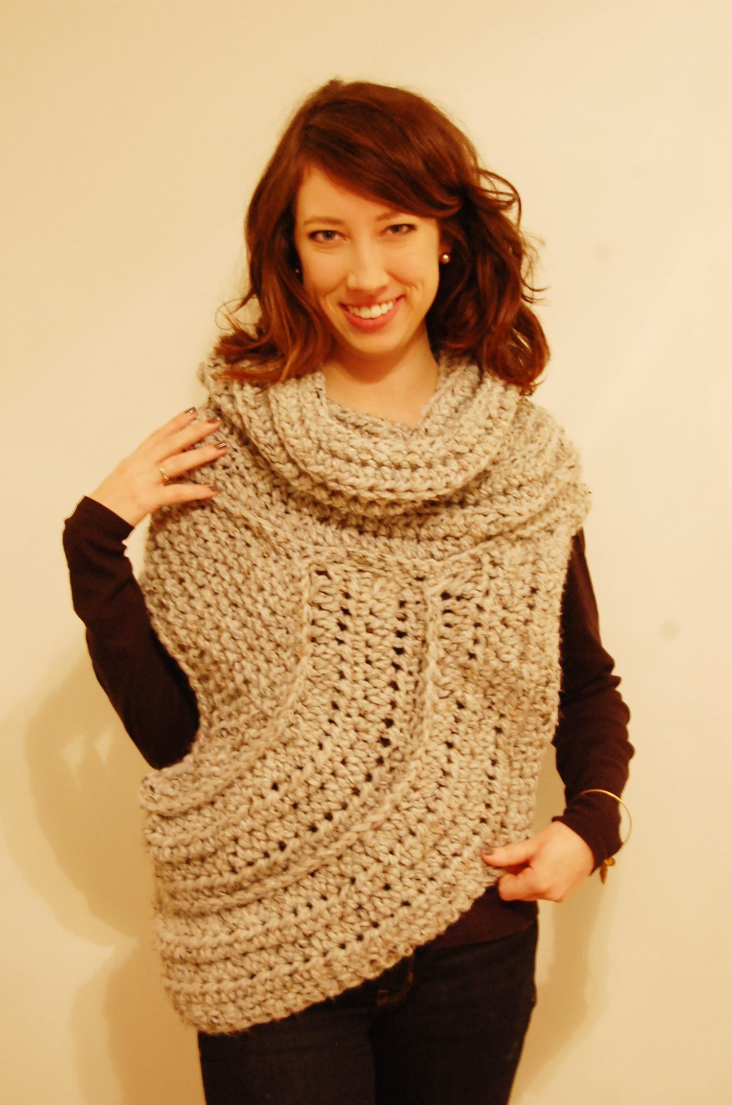 Katniss Cowlvest Knit Crochet Pattern