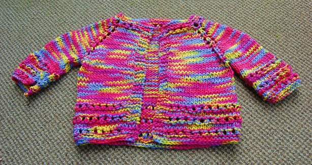 knitted baby cardigan