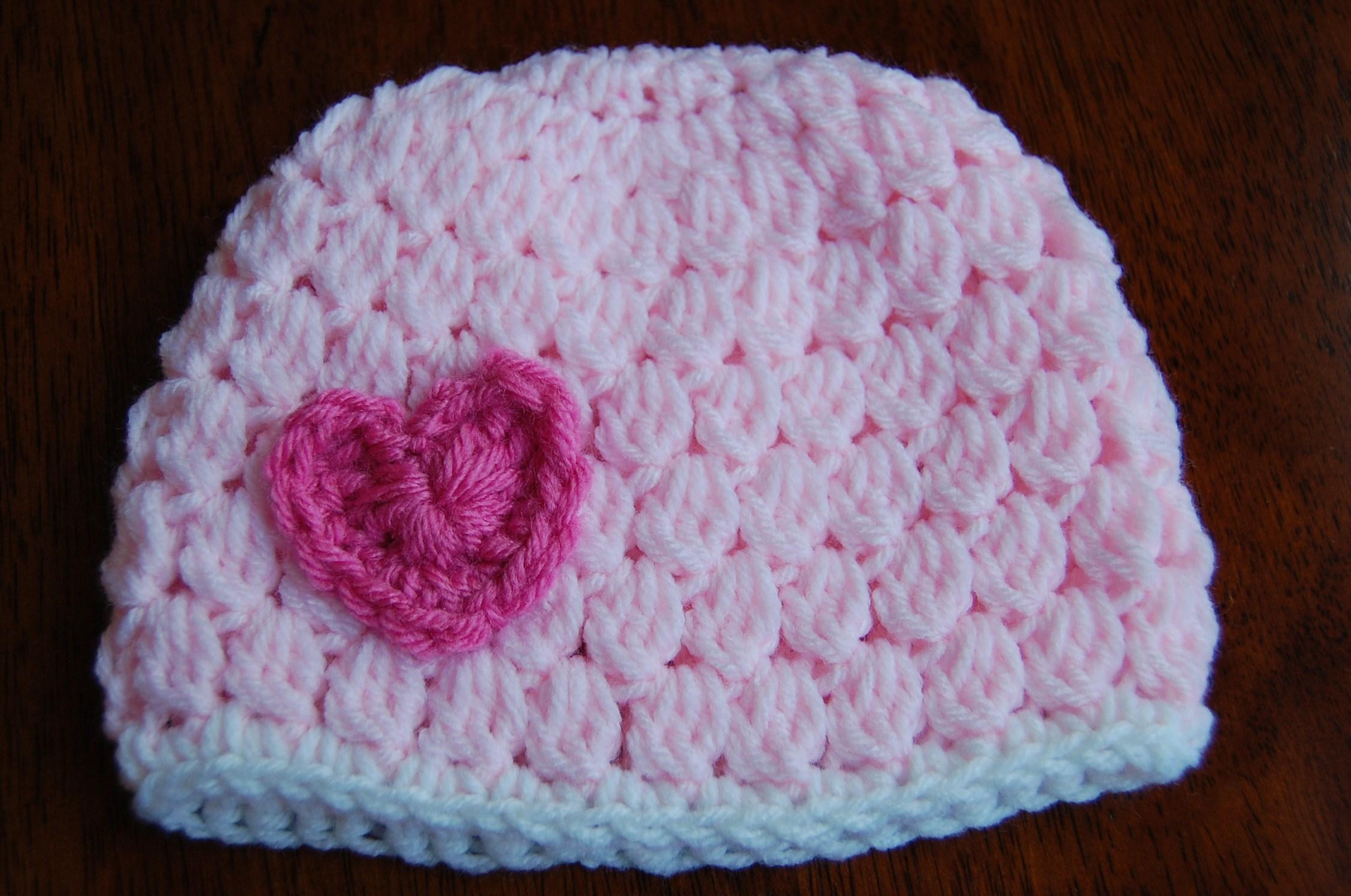 Free Girl S Crochet Hat Pattern With Heart