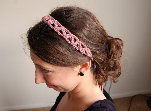 Crochet Lattice Headband Pattern