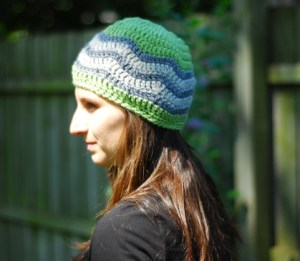 crochet chevron hat