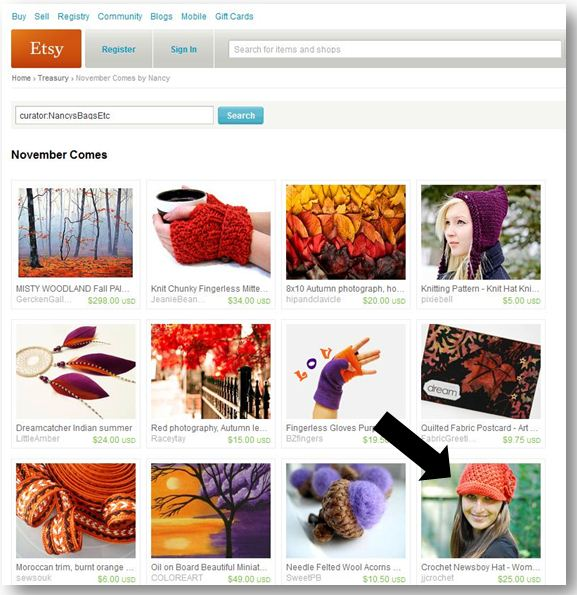 Etsy Treasury - JJCrochet 11.1.12