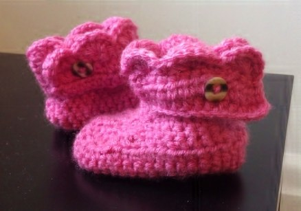 Baby Crochet Booties Pattern