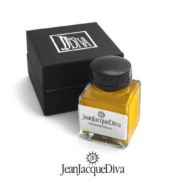 boccetta-inchiostro-per-stilografica-colore-giallo-Ink-jeanjacquediva-jjd1959