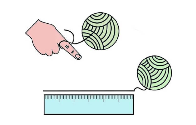 trova la tua misura con righello e cordino