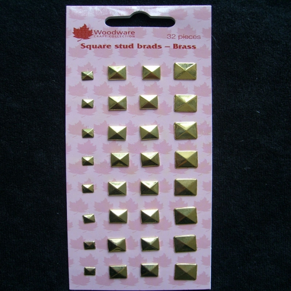 Woodware Square Studs Brads Brass