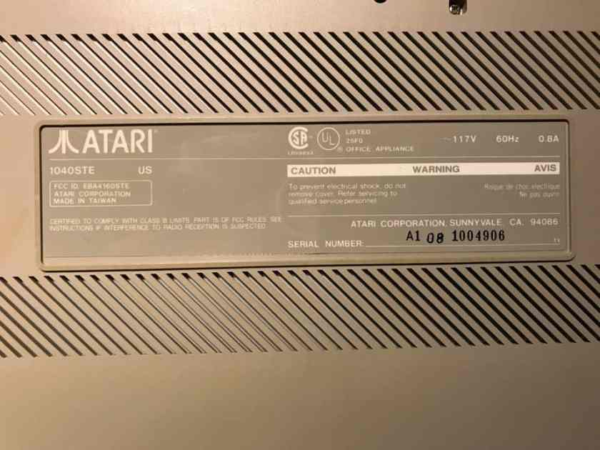 jjATR 1040STe serial number label