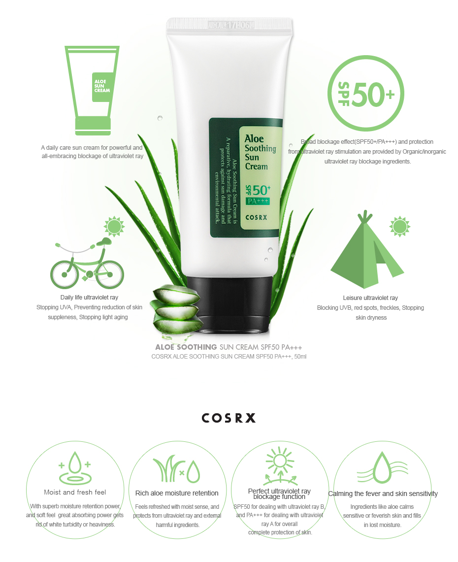 Image result for COSRX ALOE SOOTHING SUN CREAM
